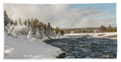 Firehole River On A Winter Day Hand Towel