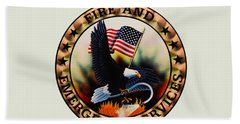 Fireman - Fire And Emergency Services Seal Bath Towel