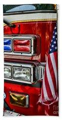 Fireman - Fire Truck Bath Towel