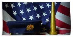 Fireman - American Hero Bath Towel