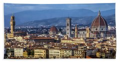 Bath Towel featuring the photograph Firenze by Sonny Marcyan