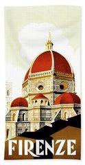 Firenze Travel Poster 1930 Bath Towel