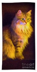 Fireside Feline Bath Towel