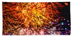 Fireworks 11 Bath Towel by Joan Reese