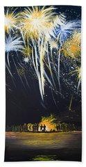 Fireworks Bonfire On The West Bar Bath Towel