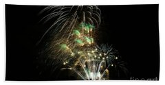 Fireworks Hand Towel by Craig Wood