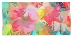 Fireworks Floral Abstract Square Hand Towel by Edward Fielding