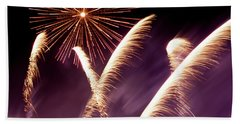 Fireworks In The Night Bath Towel