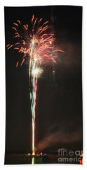 Fireworks On The Lake Hand Towel