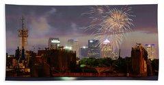 Fireworks Over Tampa 2017 Bath Towel