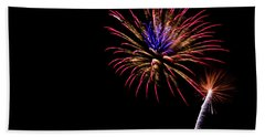 Fireworks Bath Towel by Suzanne Luft