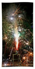 Hand Towel featuring the photograph Fireworks by Vivian Krug Cotton