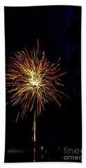 Fireworks Hand Towel by William Norton