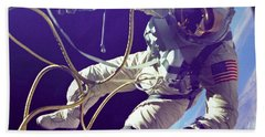 First American Walking In Space, Edward Hand Towel