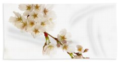 Hand Towel featuring the photograph first blossoms on the Basin by Edward Kreis