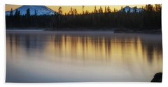 Hand Towel featuring the photograph First Light At Lava Lake by Cat Connor