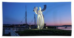 First Light At The Waterfront Hand Towel