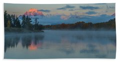 Hand Towel featuring the photograph First Light Of Dawn by Yeates Photography