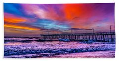 Hand Towel featuring the photograph First Light On The Beach by Nick Zelinsky