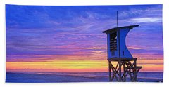 First Light On The Beach Hand Towel