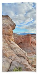 First Light On Valley Of Fire Bath Towel by Ray Mathis