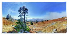 First Light Snow Hand Towel by George Randy Bass