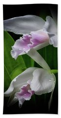 First Orchid At The Conservatory Of Flowers Bath Towel