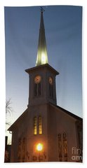 First Presbyterian Churc Babylon N.y After Sunset Hand Towel
