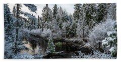 First Snow On Grand Marais Creek Hand Towel