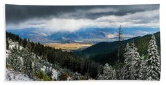 First Snow, Jackson From Teton Pass Hand Towel