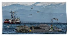Hand Towel featuring the photograph Fish Are Flying by Randy Hall