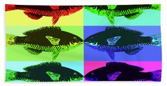 Hand Towel featuring the digital art Fish Dinner Pop Art by Nancy Merkle