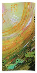Fish In A Green Sea Hand Towel