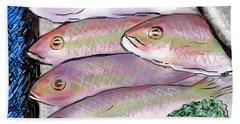 Fish Market Bath Towel by Jean Pacheco Ravinski