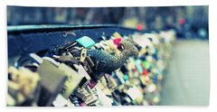 Bath Towel featuring the photograph Fish Out Of Water - Pont Des Arts Love Locks - Paris Photography by Melanie Alexandra Price