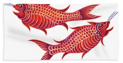 Fish Pisces Hand Towel by Jane Tattersfield