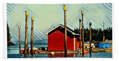 Fish Shack, Campobello Bath Towel