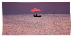 Bath Towel featuring the photograph Fisherman by Bruno Spagnolo
