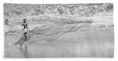 Fisherman On The Lower Ganges Hand Towel