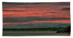 Hand Towel featuring the photograph Fishermans Wharf Sunrise by Randy Hall