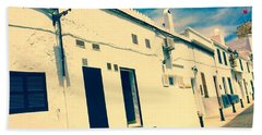 Fishermens' Cottages In Cuitadella Bath Towel