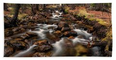 Fishhook Creek Waterscape Art By Kaylyn Franks Bath Towel
