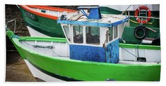 Fishing Boats Hand Towel