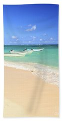 Fishing Boats In Caribbean Sea Hand Towel