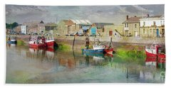 Fishing Boats In Ireland Bath Towel