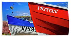 Fishing Boats Saltburn-by-the-sea Hand Towel