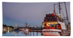 Fishing Boats Waking Up For The Day Hand Towel
