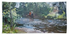Fishing Day With Viola Hand Towel