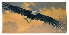 Fishing Eagle Hand Towel
