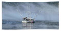 Fishing In Alaska Hand Towel